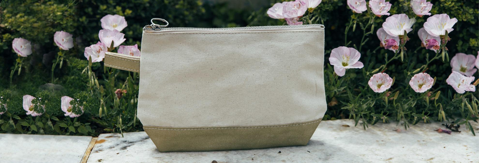 Waxed Cosmetic Bag