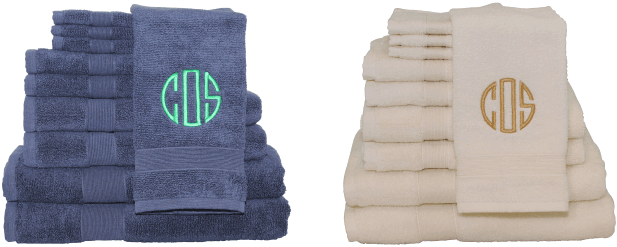 Personalizing Bath Towels With Monogram