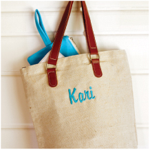 Jute & Leather Tote
