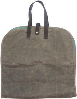 Waxed Canvas Garment Bag
