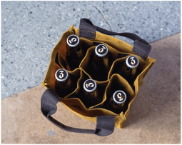 Waxed Canvas 6-Pack Beer Bottle Carrier