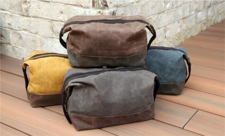 Wholesale Waxed Canvas Travel Shoe Bag
