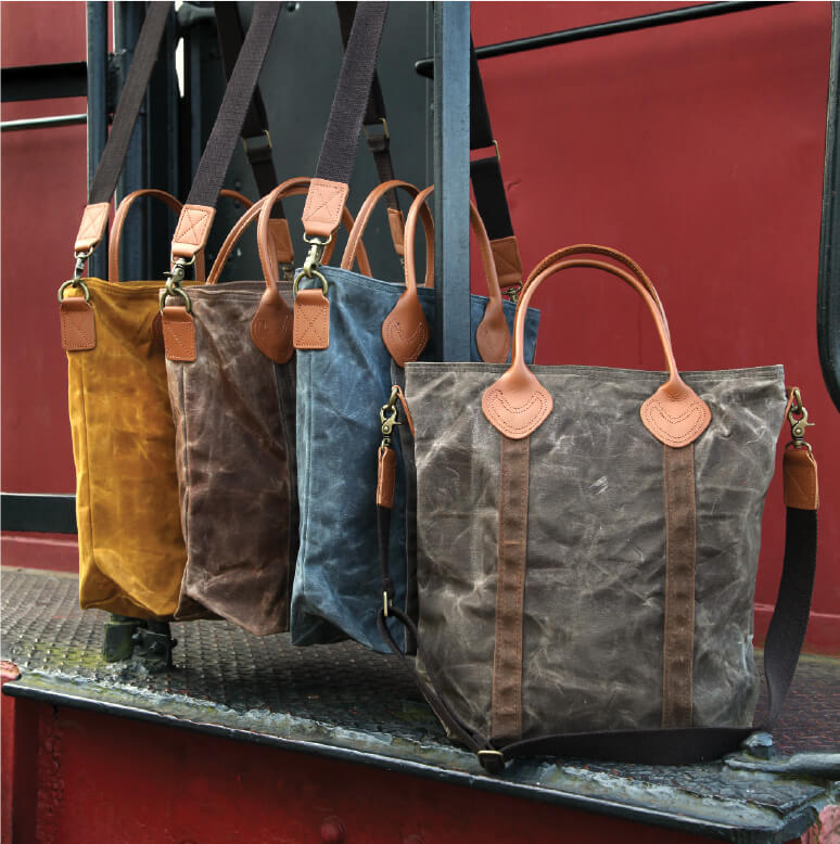 Waxed Canvas Flight Travel Bags