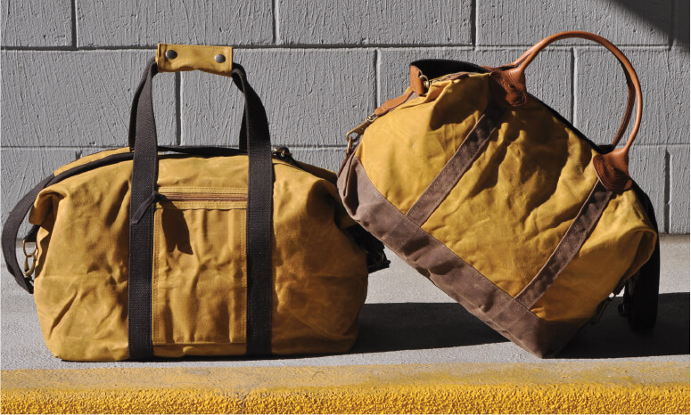 Waxed Canvas Weekender Bags